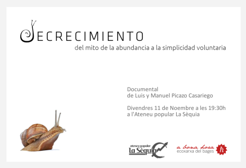 Cartell documental decrecimiento