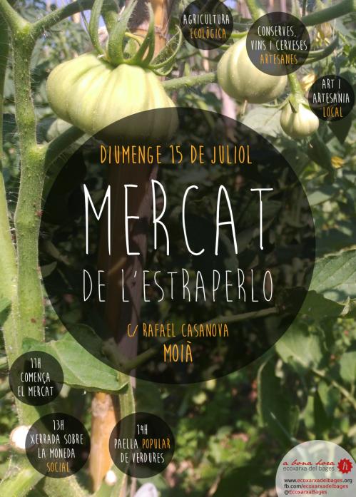 Cartell Mercat de l'Estraperlo a Moià 15-07-2018